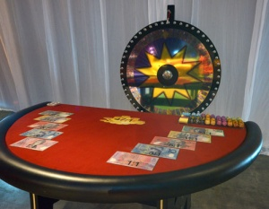 casino equipment hire big wheel table