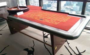 casino equipment hire roulette table
