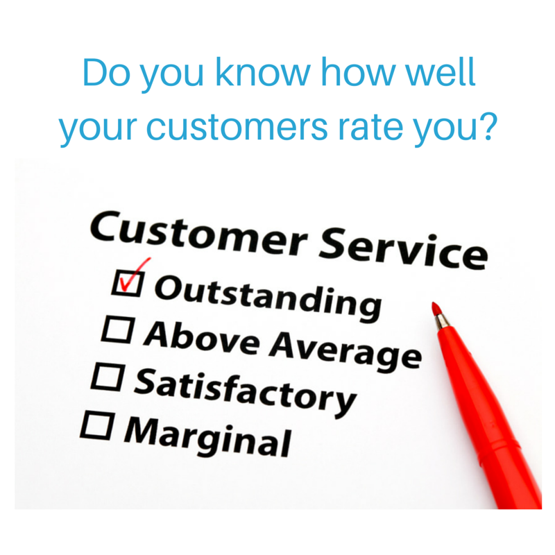 Do you know how well your customers rate you